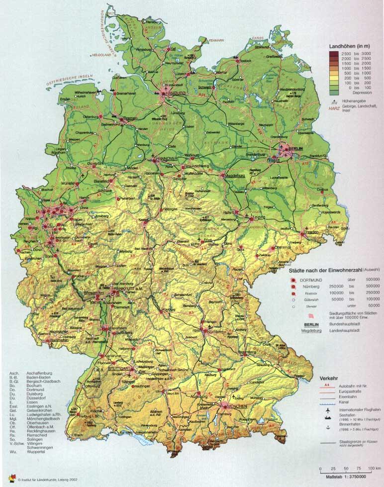 Berge In Deutschland Karte