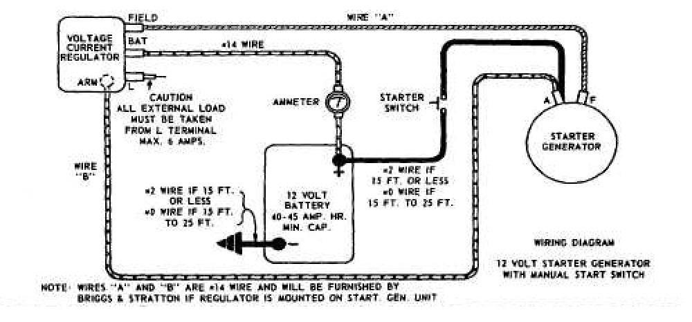 Wiring Diagram 12 Volt Starter GeneratorWiring Diagram