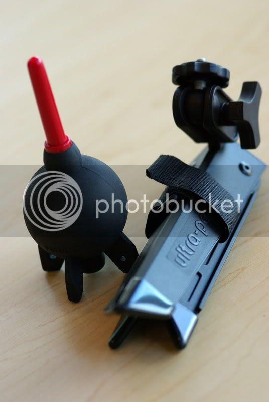 giottos rocket blower & rei ultrapod ii tripod