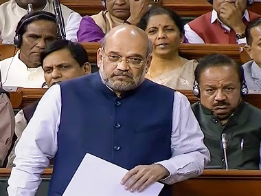 Union Home Minister Amit Shah in the Lok Sabha. PTI
