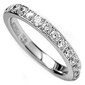 Amazon.com: 3MM Ladies Titanium Eternity Engagement Band