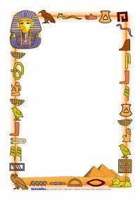 Ancient Egypt A4 page borders (SB4984) - SparkleBox | Food ...