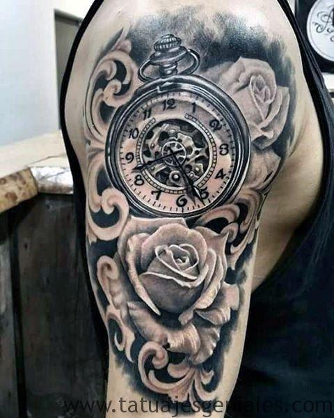 Tatuajes De Relojes Con Nombres Elegante Tatuaje Reloj De Bolsillo