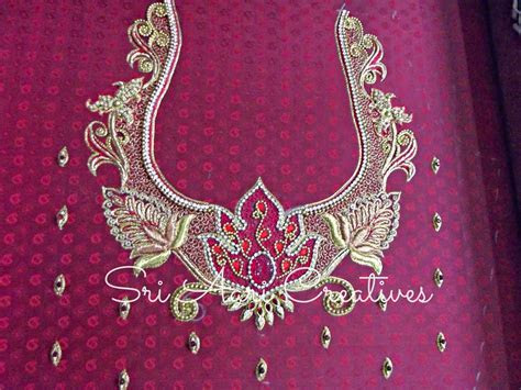 SRI AARI CREATIVES: Aari Embroidery Bridal Blouse Designs