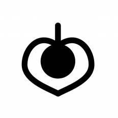 ホオズキシルエット イラストの無料ダウンロードサイトシルエットac