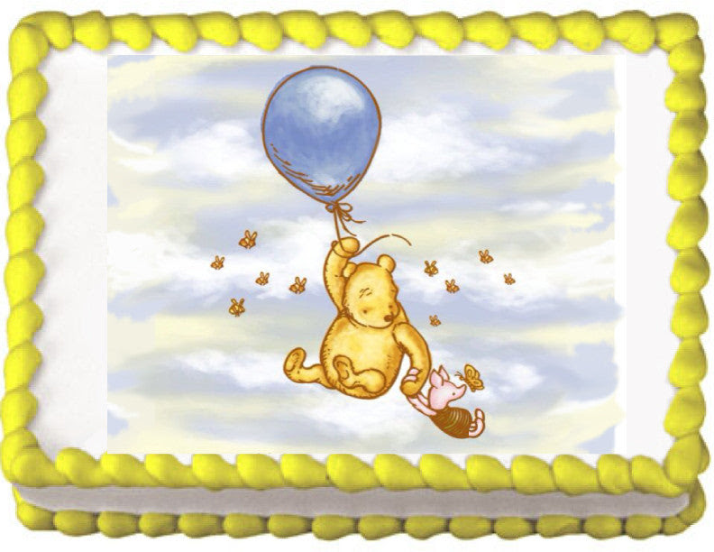 Winnie The Pooh Classic Edible Cake Cupcake Cookie Topper Trish