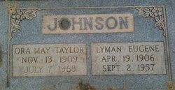 Ora May <i>Taylor</i> Johnson