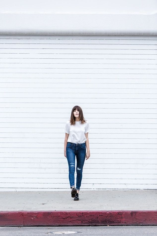Le Fashion Blog Long Bob Bangs White Boxy Short Sleeve Top High Waisted Ripped Jeans Black Chunky Oxfords Via Fire On The Head Blogger Rima Vaidila photo Le-Fashion-Blog-Long-Bob-Bangs-White-Boxy-Short-Sleeve-Top-High-Waisted-Ripped-Jeans-Black-Chunky-Oxfords-Via-Fire-On-The-Head.jpg