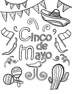 Cinco De Mayo Coloring Pages Free Coloring Pages Kids 2019