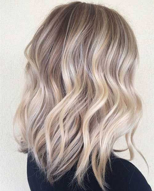 Blonde Hairstyle Long Wavy Bob Haircut Popular Haircuts