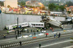 At least 56 people killed, 70 injured as train derails in Spain