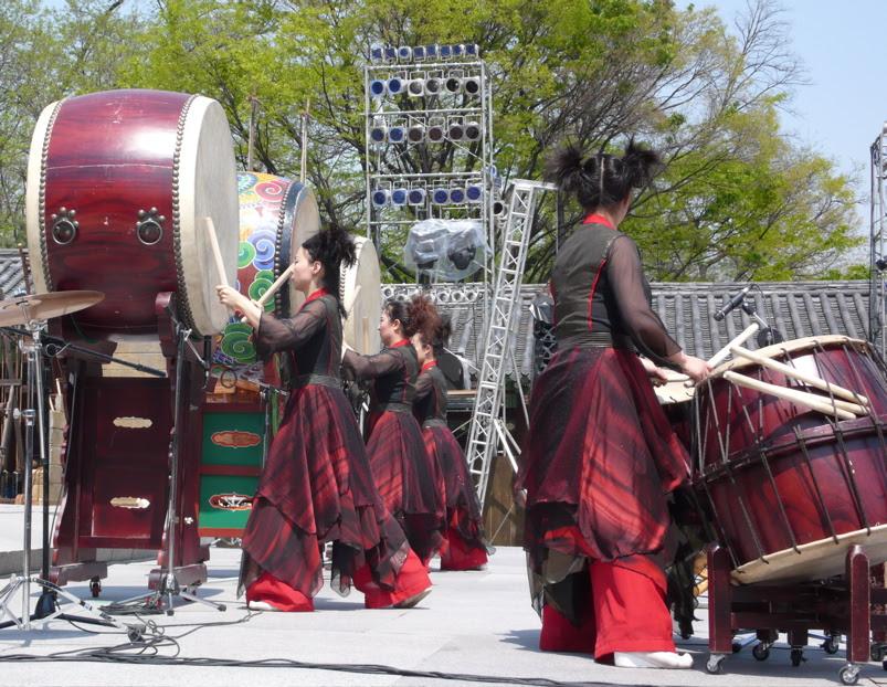 female drumming group, hi seoul festival