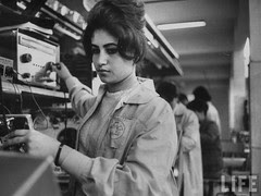 Egyptian Woman working in the TeleMisr factory in 1960s