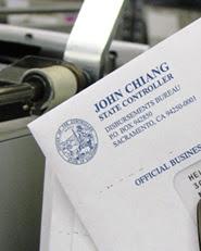 State Controller warrant envelope