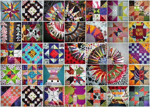 "35 blocks complete for my 8"" sampler from BOM's and QAL's"