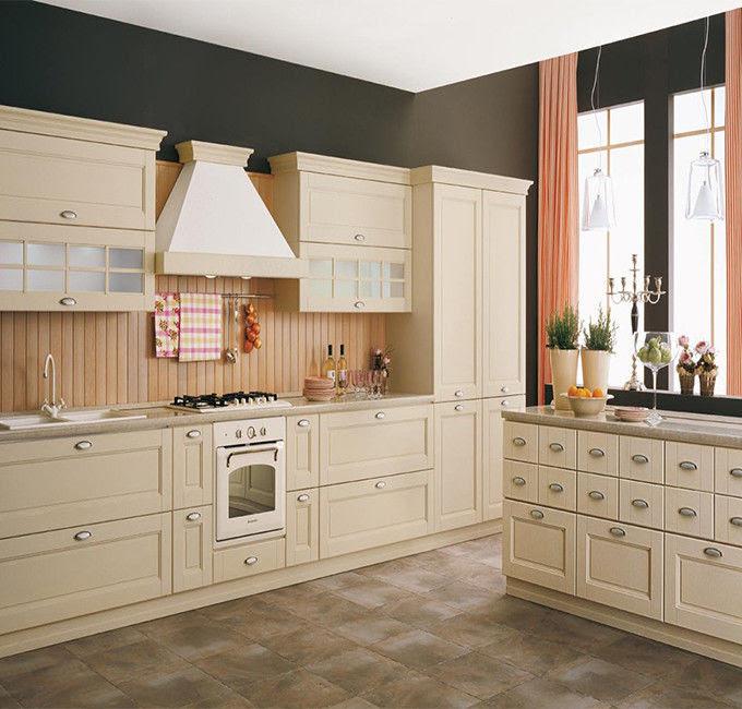 White Color White Shaker Kitchen Cabinets , Pre Assembled ...