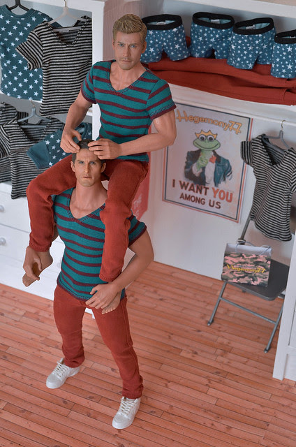 1/ 6 scale Hot Toys Truetype TTM 19 and TTM 20 action figures in clothes made by Hegemony77