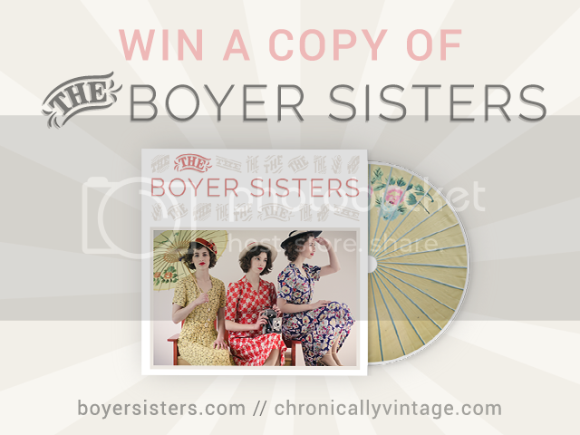 d28e6024fde01 This giveaway is for one physical copy of the Boyer Sisters CD, which will  be mailed to you directly from the Sisters themselves. It starts today (May  16th) ...