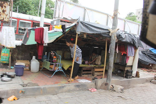 Juhu Slums Bus Depot by firoze shakir photographerno1