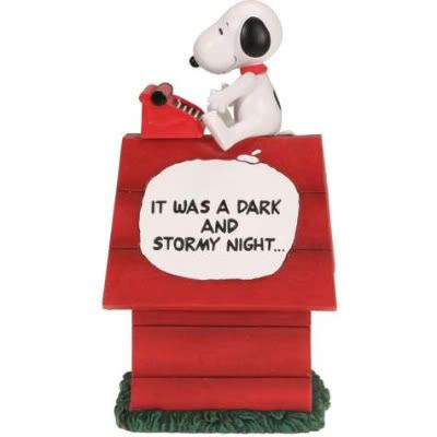 Snoopy Peanuts Dark Stormy Night