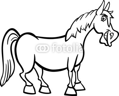 Free Cartoon Black And White Horse Download Free Clip Art Free