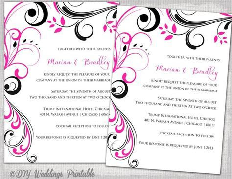 Fuschia Pink Wedding Invitations   Sunshinebizsolutions.com
