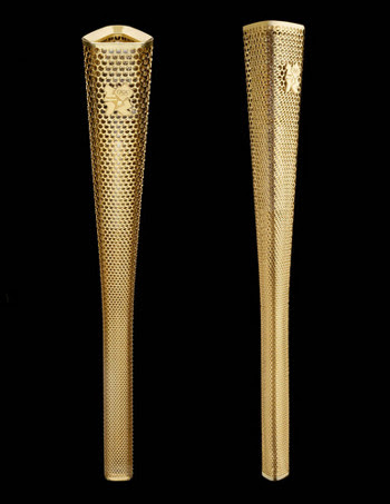 The London 2012 Olympic Torch prototype is shortlisted for the Design of the Year award, organized by the Design Museum in London. Photographers: Edward Barber and Jay Osgerby/Design Museum via Bloomberg