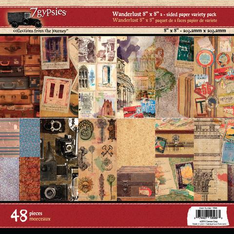 Wanderlust 8x8 Paper Pad (48 Sheets)