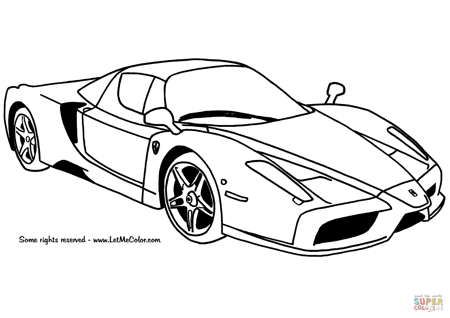 420 Free Ferrari Coloring-pages-book-for-kids-boys.com , Free HD Download