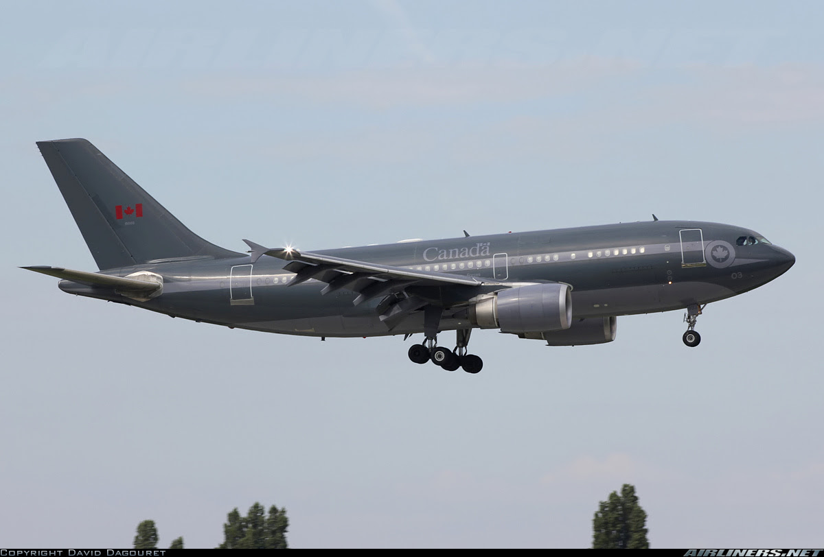 Airbus A310 da Força Aérea Canadense em Cuiabá. Hoje 13/04/2013