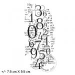 fond chiffres et texte