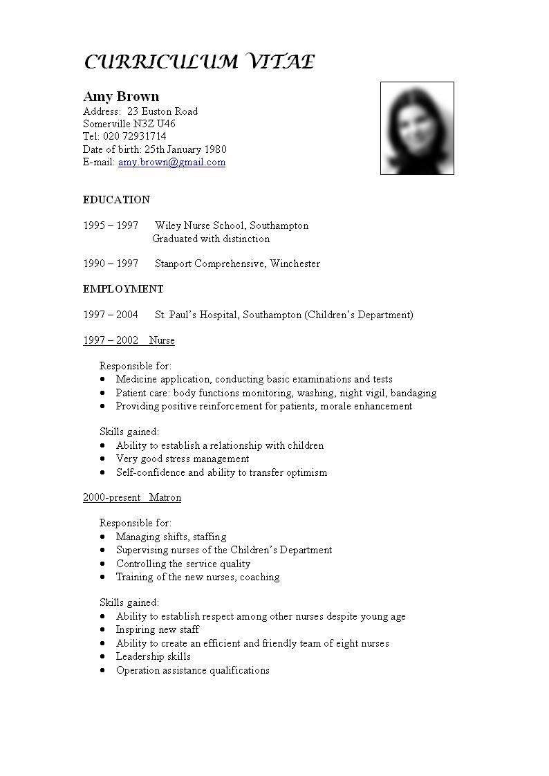 cv writing application