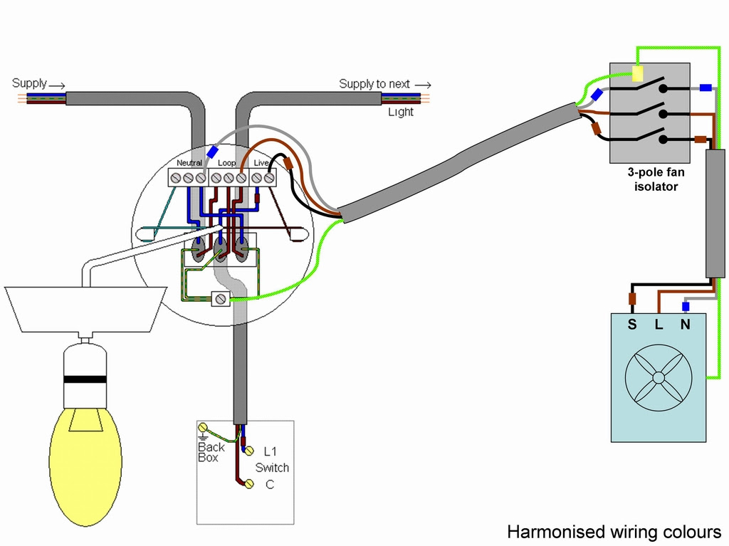 Wiring Diagram Extractor Fan Home