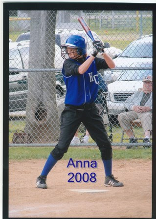 Anna at the bat