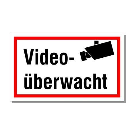 schild videoueberwachung sehr stabil formstabil