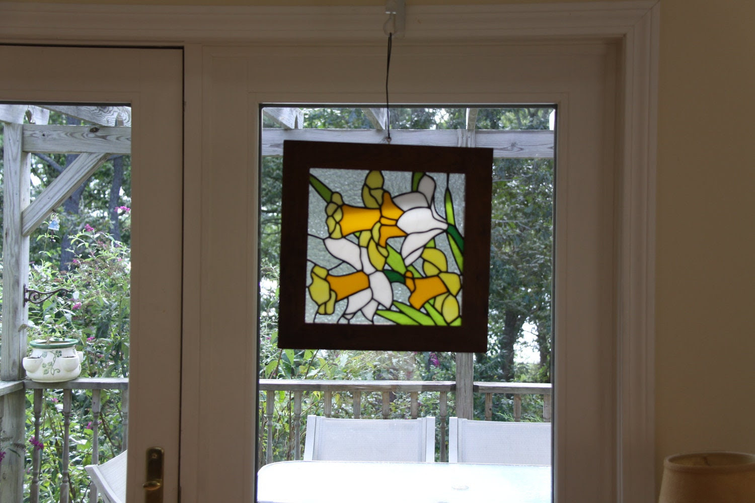 """Stained Glass Panel """"Daffodil Days"""""""