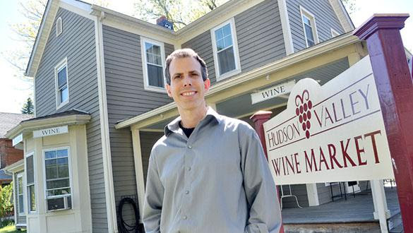 Perry Goldschein of the Hudson Valley Wine Market will celebrate his grand opening on Saturday, May 11 from 1 to 4 p.m. at 119 Main Street in Gardiner. (photo by Lauren Thomas)