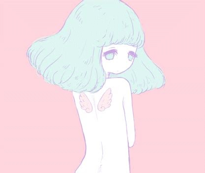 aesthetic anime kawaii cute gif pastel pink min