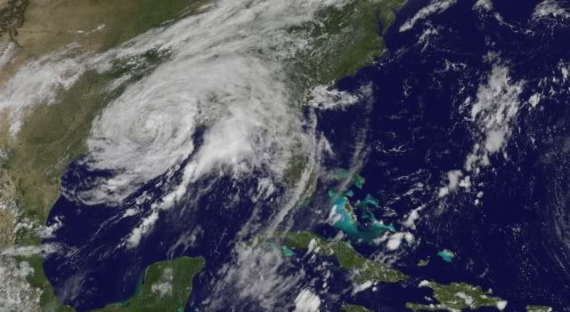 Tropical Storm Lee in the Gulf of Mexico on Sep 4th 2011 Image Courtesy GOES-13  Cropped by Bobby Coggins