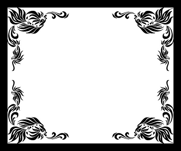 Free Black And White Border Designs For Projects Download Free Clip