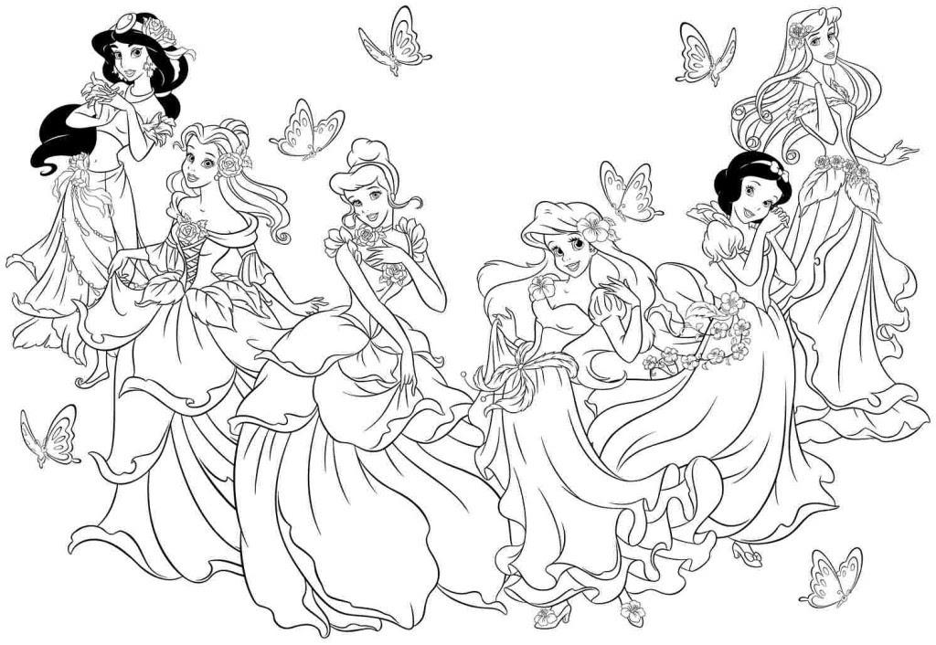 Disney Princess Coloring Pages Printable - Coloring And Drawing