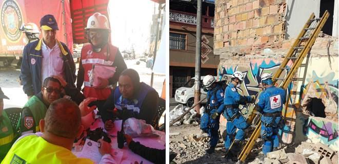 Cali participó en simulacro de búsqueda y rescate realizado en Bogotá