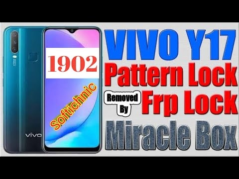 How to vivo y17(1902) format pin pattern frp miracle one click by softichnic