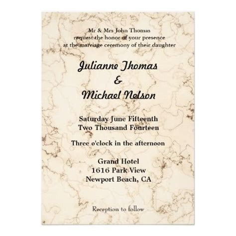 Love is Patient Marbled wedding invites full bible verse