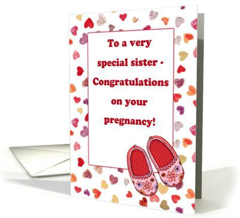 Congratulations on your pregnancy, sister, hearts, baby