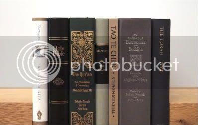 Juxtaposed: religion bookshelf 5
