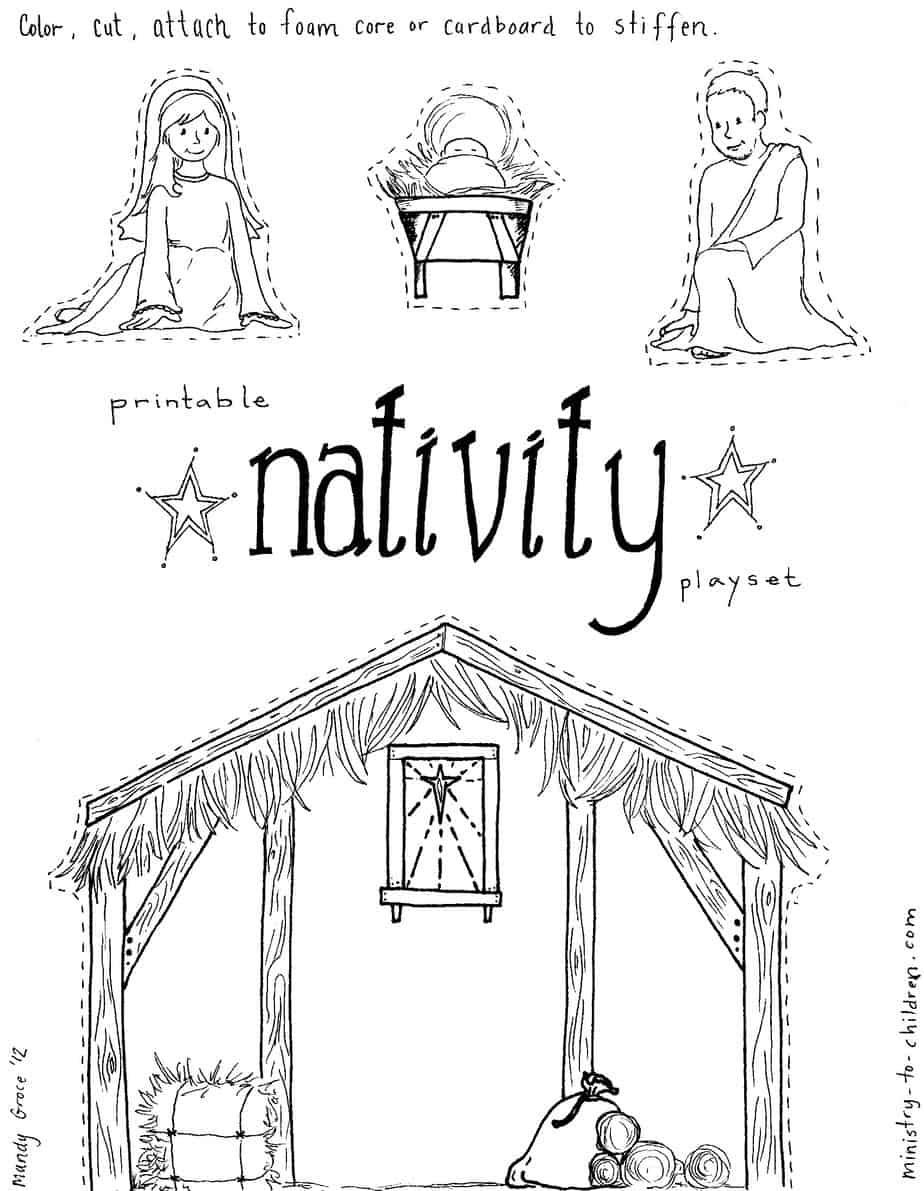 Printable Nativity Activity Sheet
