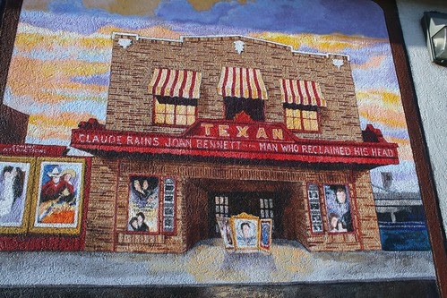 texan theatre mural detail