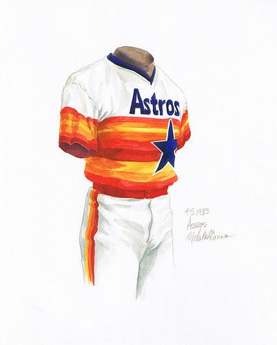 old houston astros uniforms. Houston Astros 1983 uniform