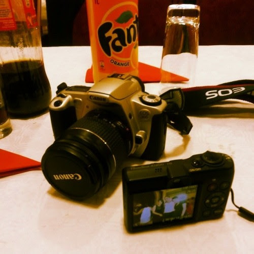 Taking pics #canon #analog #digicam